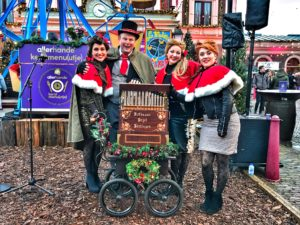 Dickens draaiorgel orgelman draaiorgeltje kerstmarkt